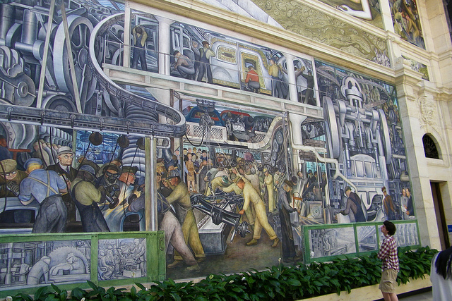 Detroit bankruptcy diego rivera 39 s famed 39 detroit industry for Detroit rivera mural